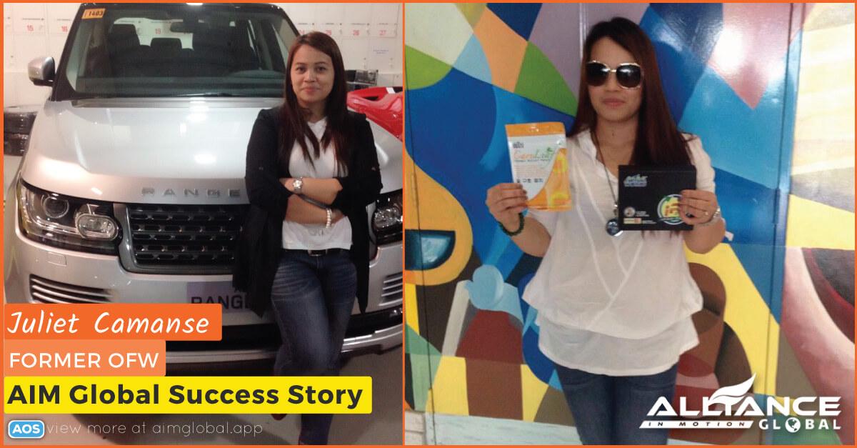 Juliet Camanse Former OFW – AIM Global Success Story