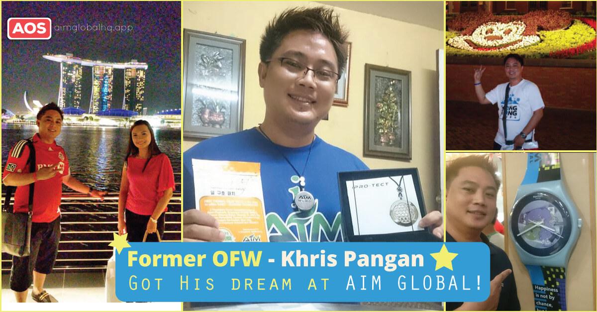 Khristopher Pangan Former OFW – AIM Global Success Story